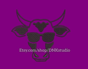 Cow Farm Machine Embroidery Design - 6 Sizes - INSTANT DOWNLOAD