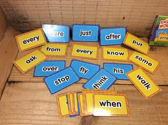 Set of Word cards for crafting, children's crafts with words, craft ideas for words, craft and learn, paper word cards, word imagination