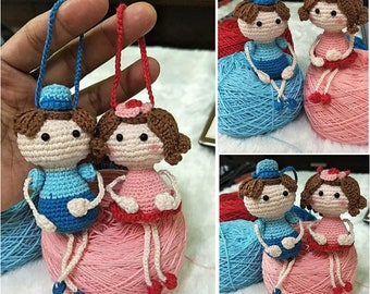 Crochet Pattern : May girl & May Boy - set [ PDF crochet pattern with Instant Download ]