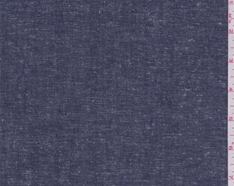 Dark Blue Linen, Fabric By The Yard