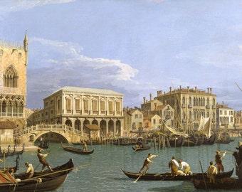 Canaletto: Bridge of Sighs, Venice. Fine Art Print/Poster. (003333)
