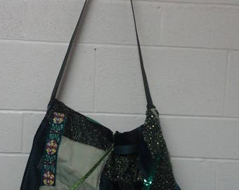 Green Patchwork Carry-All Bag