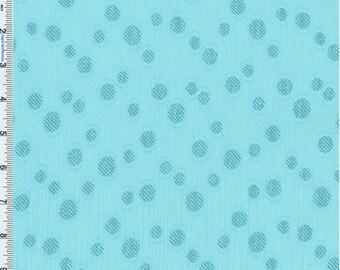 Light Blue Dotted Yoryu Chiffon, Fabric By The Yard