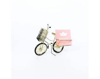 Vintage card holder etsy vintage brass bicycle card holder card stand colourmoves Choice Image