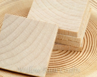 50 pcs 1 inch Wood Squares, Wood Tiles  (23-20-140)