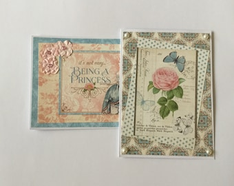 Elegant cards, female birthday, Pretty cards, floral, pink blank card, greeting card, gift cards, birthday cards, female cards