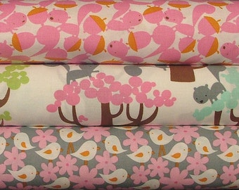 LAST ONE Pink Fat Quarter Bundle of Get Together by David Walker for FreeSpirit