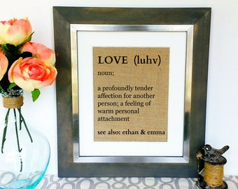 Engagement Gift for Couples Wedding Gifts for Couples Love Boyfriend Girlfriend Present for Fiance Shabby Chic Rustic Decor Gallery Wall Art
