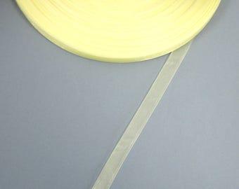 Ribbon organza in 10 mm light yellow X 5 meters