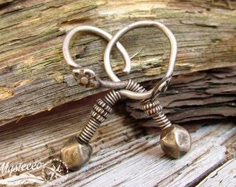 Tribal Earrings ear weights silver earrings - Authentic Tribal Earrings - Silver Earrings - Ethnic Earrings - Vintage earrings