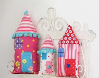 Stuffed Houses Sewing Pattern Download 803068