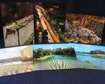 Japan Postcards, Lot 6, Japanese Postcards, UNUSED,  Okinawa Postcards,  Vintage Postcards,Ryukyu, Naha,Wedding Cards, Save the Date cards