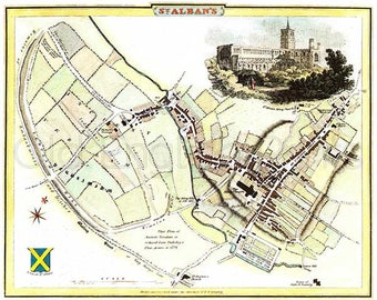 Map of st albans Etsy
