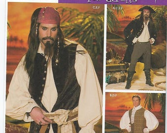 Simplicity 4923 (AA) - MENS Pirate Costumes / Sizes XS, S, M