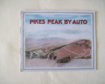Pikes Peak By Auto Souvenir Booklet 1920s Softcover