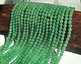 "Natural Aventurine Beads Round Green Aventurine Crystal Quartz Ball Beads Wholesale 4mm 6mm 8mm 10mm Beads 15"" Strand"