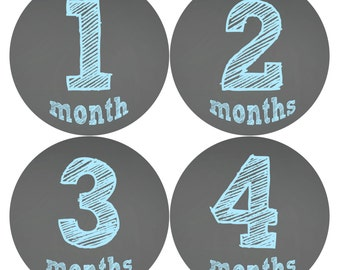 Monthly Baby Milestone Stickers Baby Boy Baby Shower Gift One-Piece Baby Stickers Monthly Baby Stickers Baby Month Stickers 123