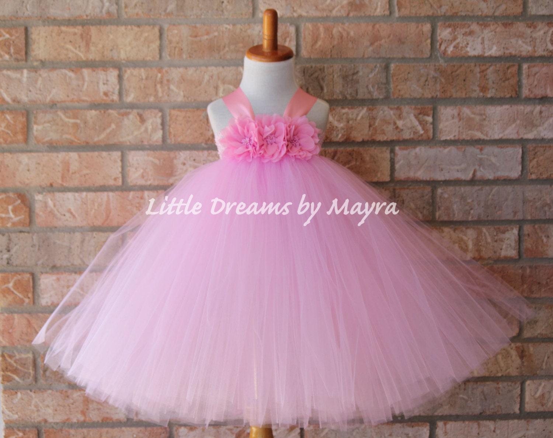 rosado para niña Vestido de florista para niña