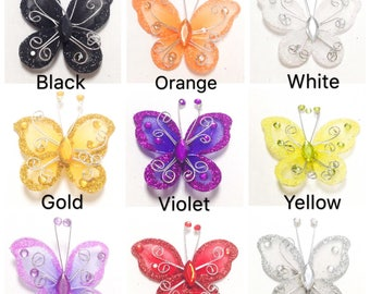 Wired Organza Butterfly