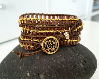 Sunset in Santa Fe Four Quad 4-wrap Bracelet