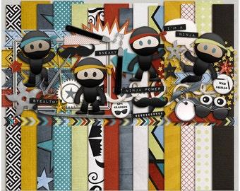 Imma Ninja - Papers & Elements for Digital Scrapbooking