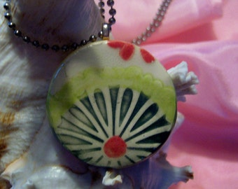 Decorative Lime Ceramic Pendant
