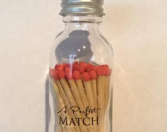 MATCH STICKS Bottle Wedding Favors