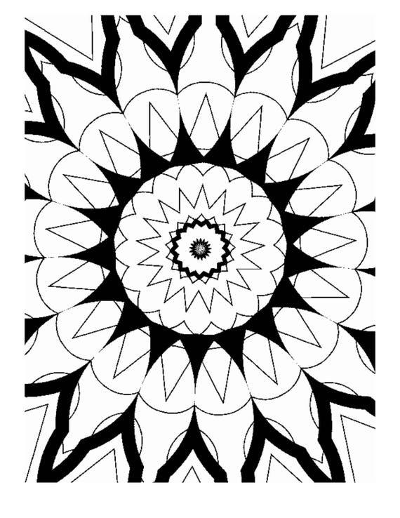 Libro digital para colorear en PDF caleidoscopio fresco - padres y ...