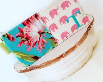 Monogram Charger Cord Cubbie, Personalized Zipper Charger Bag, Phone Cord Tablet Cord Charger Bag, Jewelry Makeup Travel Case, Elephant Case