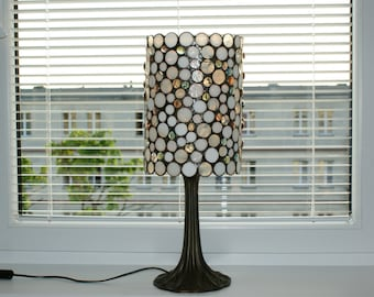 White Stained Glass Lamp Tiffany Lamp Made to Order