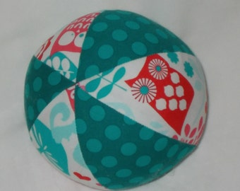 Aqua Forest Life Fabric Boutique Ball Rattle Toy