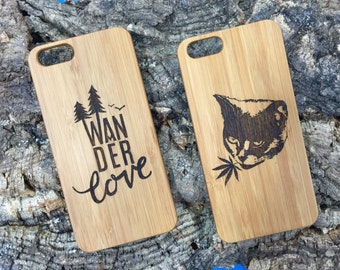Custom iPhone 7 Case with Your Logo. Personalized iPhone 7. Add Image, Name, Words, Graphic. Eco-Friendly Bamboo. Or Buy Plain.