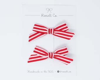 CANDY STRIPE    Pigtail Set