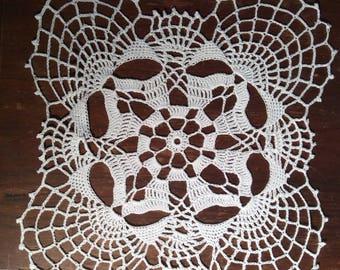 Doily, handmade, square