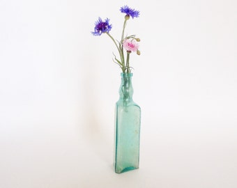 VINTAGE GLASS  bottle, Home decor, Vase, Vintage Nursery