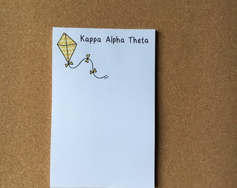 Kappa Alpha Theta Kite Officially Licensed Notepad