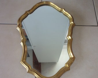 Romantic style gold mirror