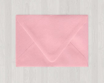 10 A7 Envelopes - Euro Flap - Pink - DIY Invitations - Envelopes for Weddings and Other Events