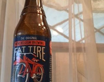 Fat Tire Recycled Beer Bottle Wind Chime