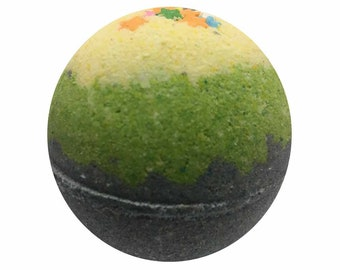 Galactic Grape Bath Bomb, Bath Fizzy, Handmade Spa Product, Epsom Salts, Hydrating Coconut Oil, Sensitive Skin, Great Gift for Her