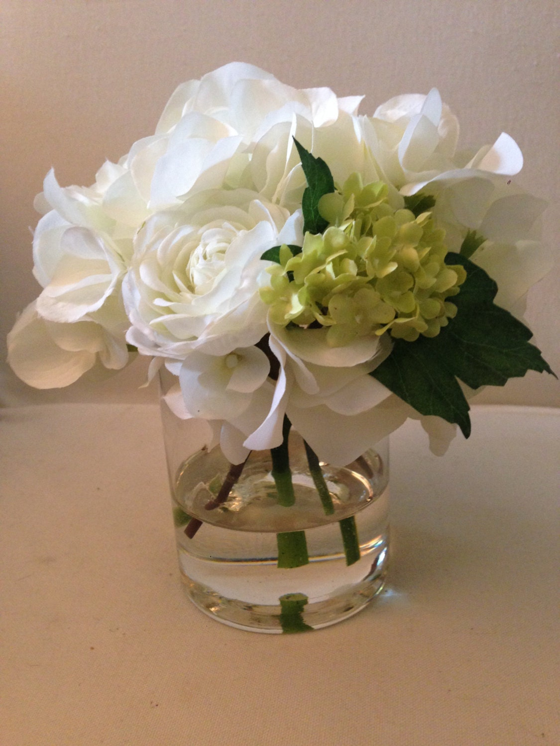 Faux flower arrangements in acrylic water hydrangea zoom reviewsmspy