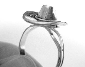 Silver Western Jewelry - Cowgirl Jewelry - Western Ring - Cowboy Hat Jewelry - Cowgirl Hat Jewelry