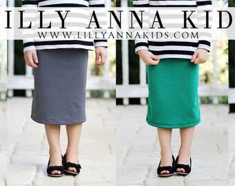 LillyAnnaKids Girls knit pencil skirt