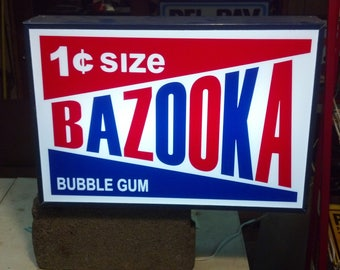 Bazooka 24x16x4 lighted sign 6ft switched cord
