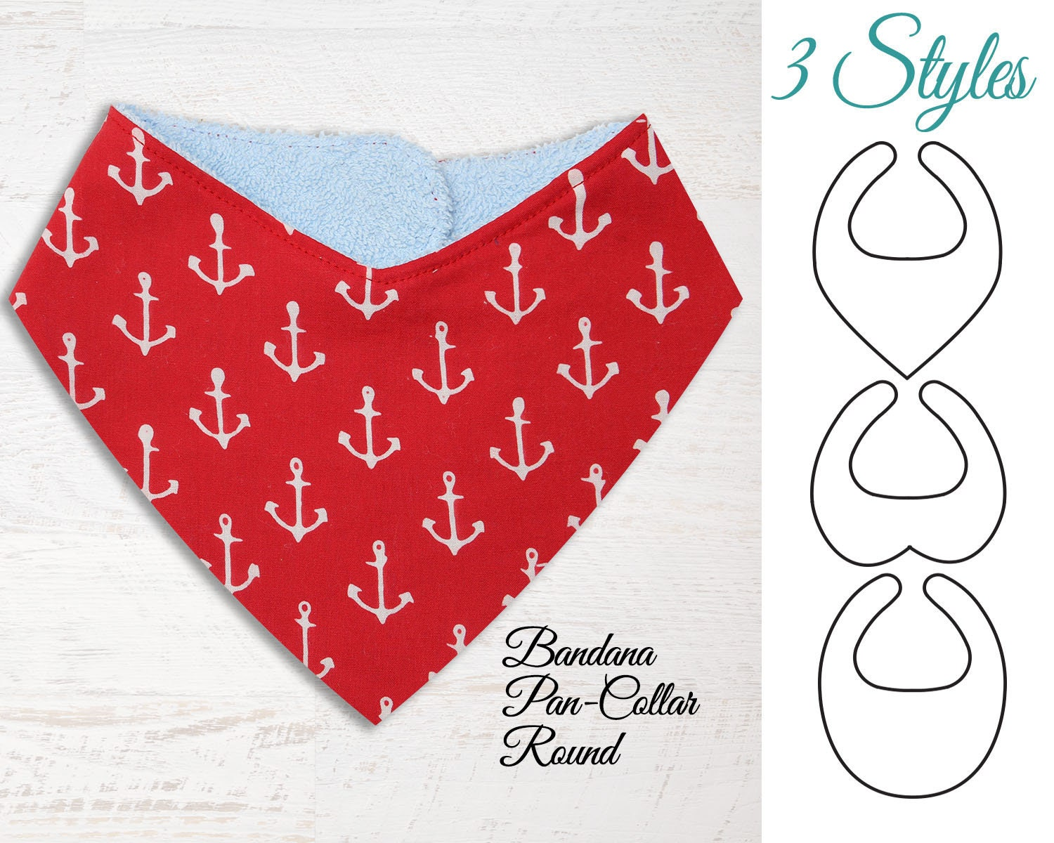 Bandana Bib Pattern, Baby Bib Pattern, Bib Patterns, PDF sewing ...