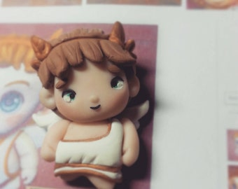 Smite charms- Cupid- polymer clay hand sculpted polymer clay.