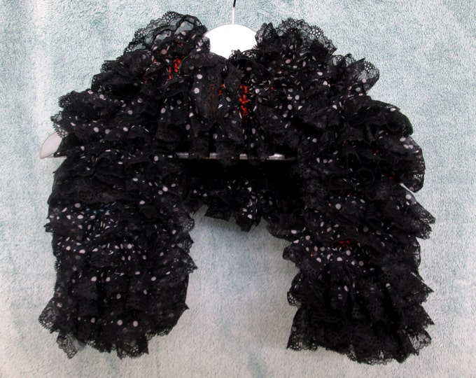 Black Lace Scarf - Polka-Dots - Hidden Colors