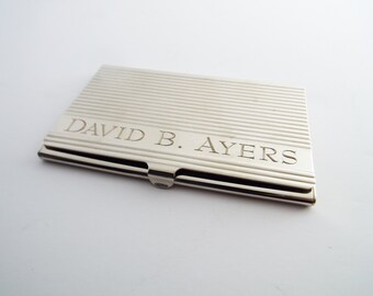 Engraved card holder etsy business card case personalized business card holder calling card holder custom visiting card reheart Images