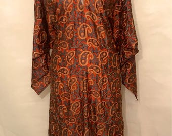 Vintage embroidered indian dress m/l