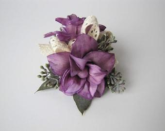Magnolia Wristlet Corsage - Keepsake Wrist Corsage - Prom Corsage - Homecoming Corsage - Corsage - Wedding Corsage - sola flower corsage